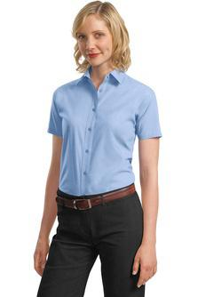 Short Sleeve Poplin Dress Shirts A smart choice for the workplace and your budget. Our poplin shirt can take daily wear and tear and remain looking great, thanks to an easy care blend.