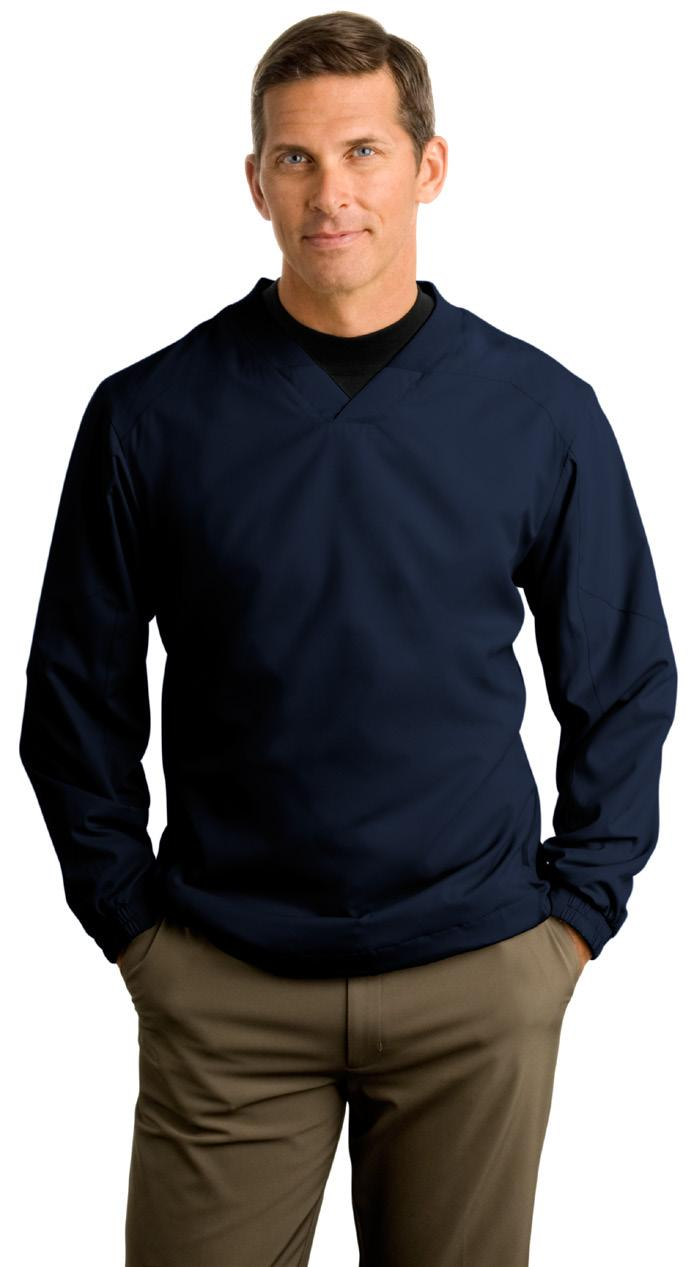 Pullover Windshirt On or off the course, this soft wind shirt is a winner.