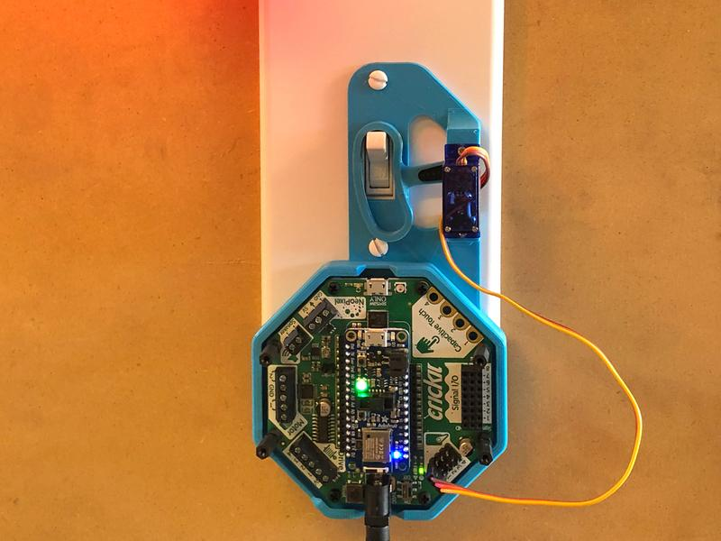 Overview Build your own Bluetooth, remote-controlled robotic light switch to turn on and off the lights!