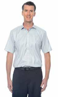 Administration and Care Staff Men s Wardrobe Shirts M310S62SBC Men s Short Sleeve Dobby Shirt Silver/White Square Dobby Weave 65% Polyester, 35% Cotton Size range S