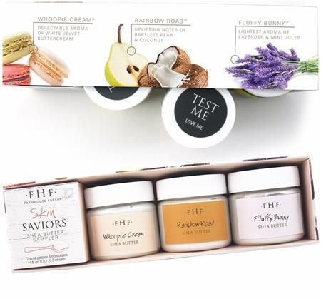 Skin Saviors - 3 Piece Shea Butter Samplers A TASTY TRIO FOR BODY AND HANDS.