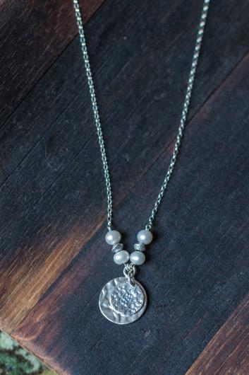 extender) N1013 Small Silver Disc, Pearls 17