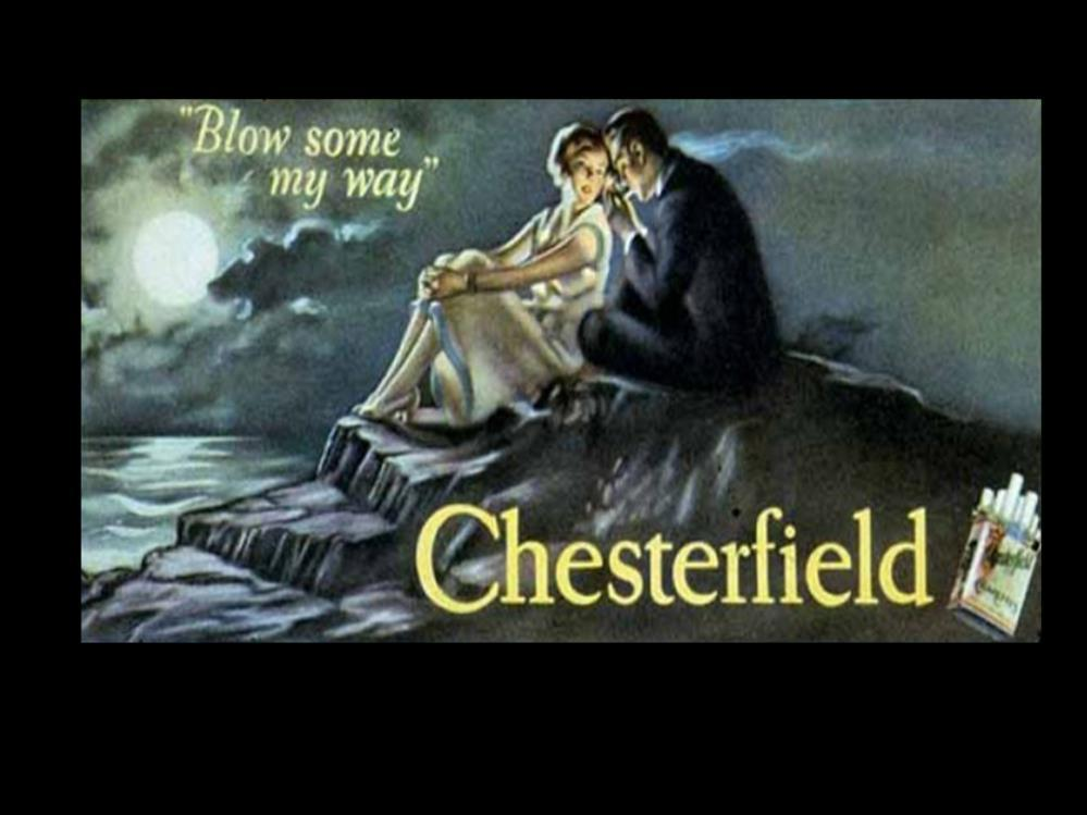 Date: 1927 Brand: Manufacturer: Campaign: Theme: Key Phrase: Chesterfield Ligget & Meyers Tobacco Co.