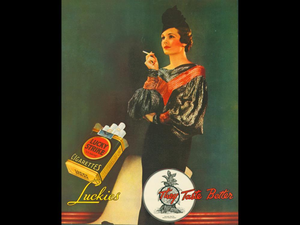 Date: 1934 Brand: Lucky Strike Manufacturer: The American Tobacco Co.