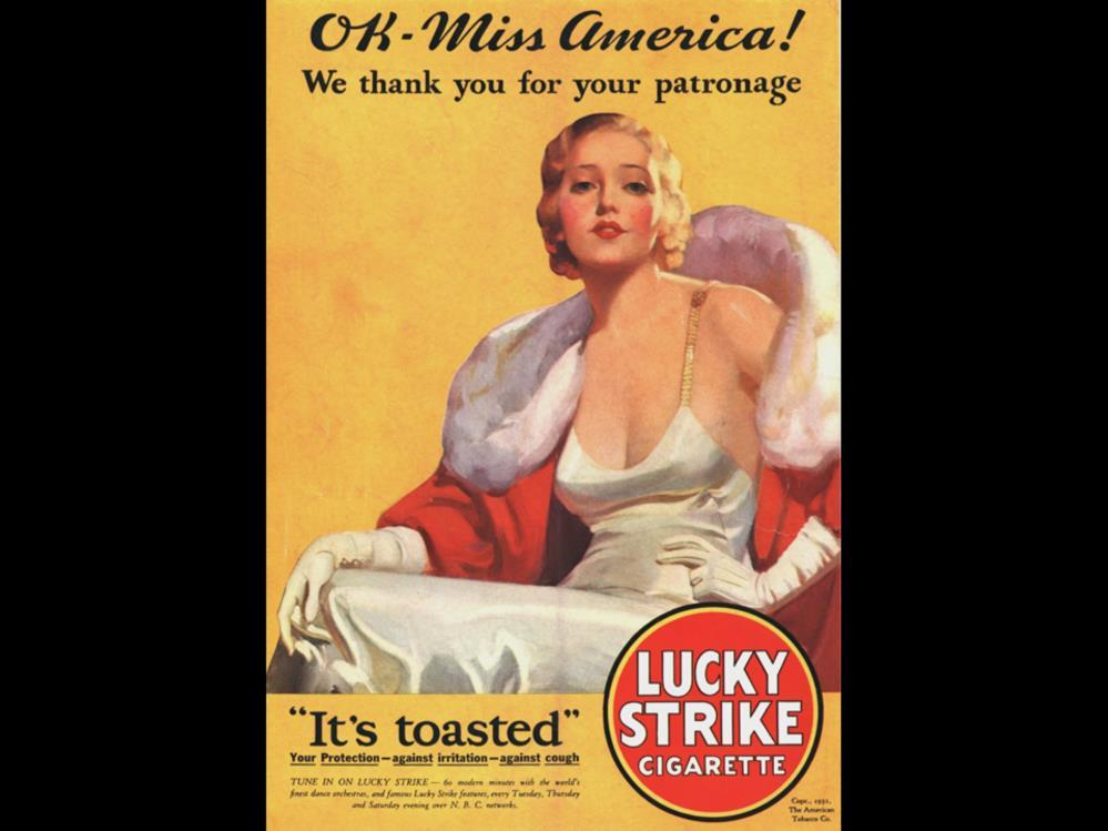 Date: 1932 Brand: Lucky Strike Manufacturer: The American Tobacco Co.