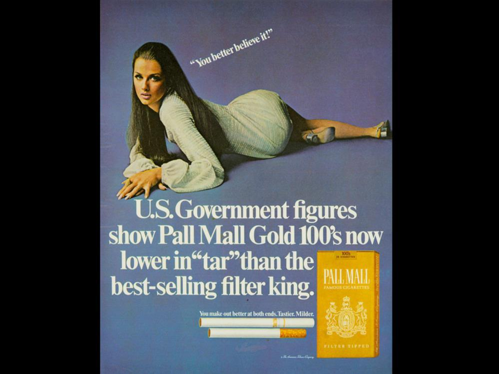Date: 1970 Brand: Pall Mall Manufacturer: Campaign: You better believe it! Theme: Let s Sm