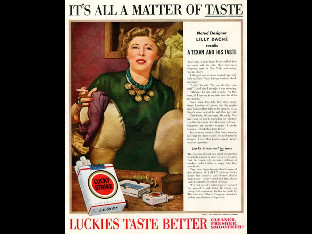 Date: Brand: Manufacturer: Campaign: Theme: Key Phrase: Lucky Strike The