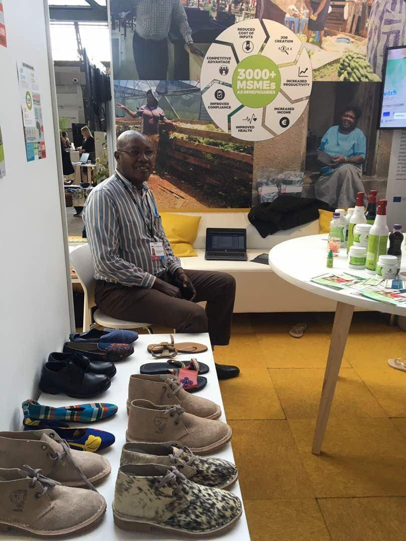 Manufacturers and Government partners during the unpacking of Kenya Footwear