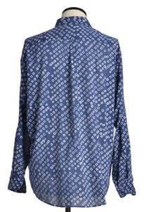 Indigo dyed long sleeves shirt with a generous cut