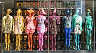 Ask your students to find a clothing store with a window display of mannequins modelling the latest fashion.
