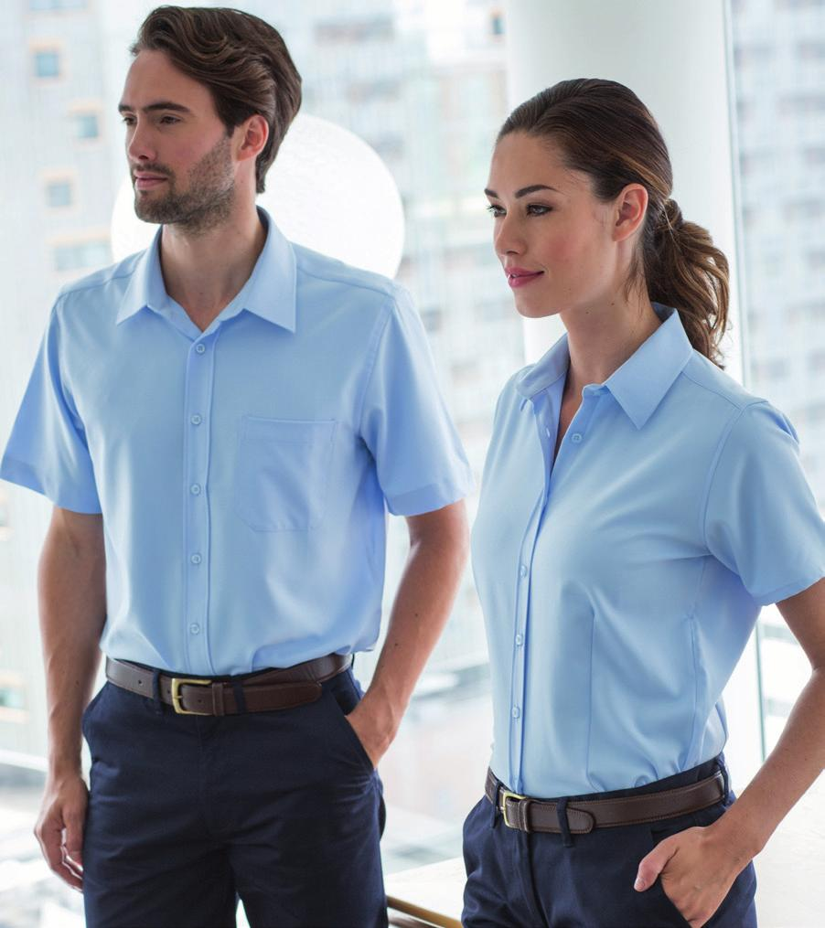 H595 H596 CLASSIC WICKING SHIRT H595 H596 Lightweight, COFREX/PUFY permanent wicking yarn. Anti-bacterial finish. Anti-UV Barrier. Quick dry properties. Classic styling in a Regular fit.