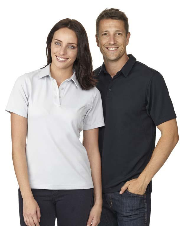 AQUA TECH > > QUICK DRYING > > BREATHABLE > > ADDED COMFORT > > MOISTURE MANAGEMENT SYSTEM > > RESISTS BODY ODOUR GL8102 MEN S AQUA TECH POLO > > 100% Polyster Micro Pique knit 160GSM > > 3 button