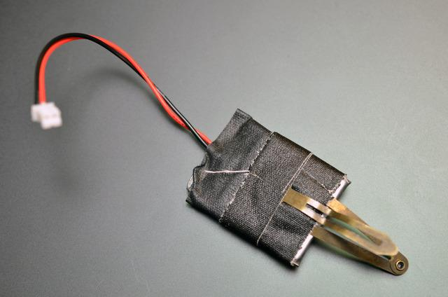 Use gaffer tape to reinforce where the wires meet the lipoly cell.