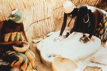 Nature of bread Figure 10: Women grinding sorghum in Cameroon. Courtesy Royal Botanic Gardens, Kew. Photo: Jack Harlan Unfortunately, no surviving bread loaves have been recovered from Amarna.