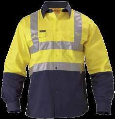 3M TAPED 2/T HI VIS SHIRT BT6456 3M TAPED 2/T CLOSED FRONT HI VIS SHIRT BTC6456 3M H TAPED 2/T HI VIS DRILL SHIRT BS6267T Yellow/ Bottle (TT03), Yellow/ Navy