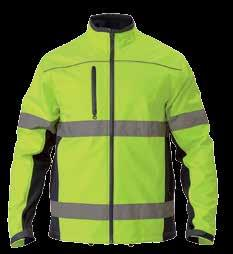 Coated Polyester 300D 100% Polyester Lining with Polyester Wadding 160gsm Orange/ Navy (TT05), Yellow/ Navy (TT04) HI VIS DRILL JACKET 2 Tone w/ Padded Lining BK6710 3M