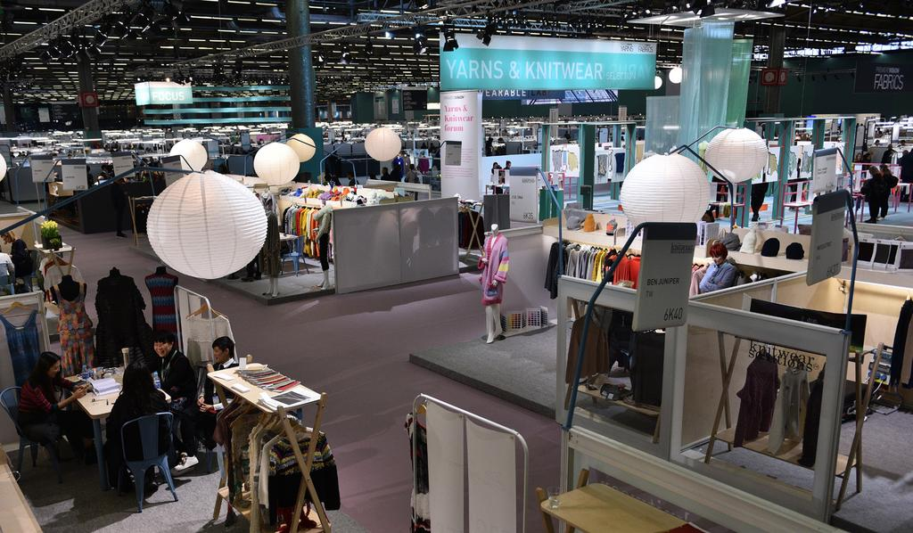 exhibitors on Première Vision Designs An international selection of knitters, spinners, knit studios at Première