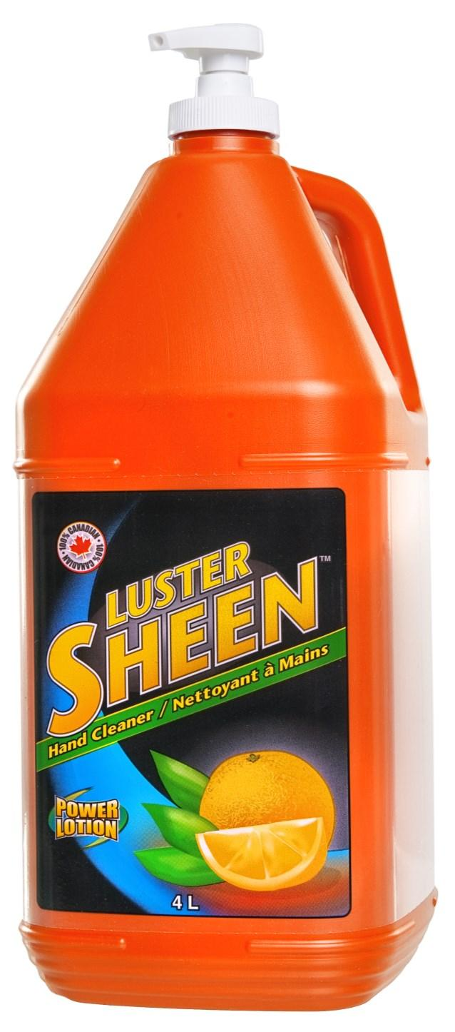 ....... LUSTER SHEEN HAND CLEANERS CLEAN YOUR HANDS IN SECONDS Trusted by Canadians for over 50 years Removes grease, grime, oil, paint, varnish, shellac, printers ink, asphalt, tar, carbon, rust