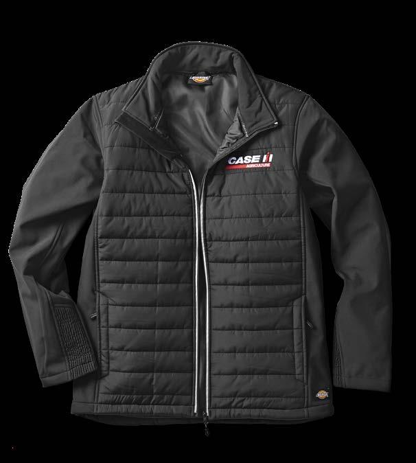 The Dickies Loudon Jacket has a lightly padded body, with contrast fabric sleeves.