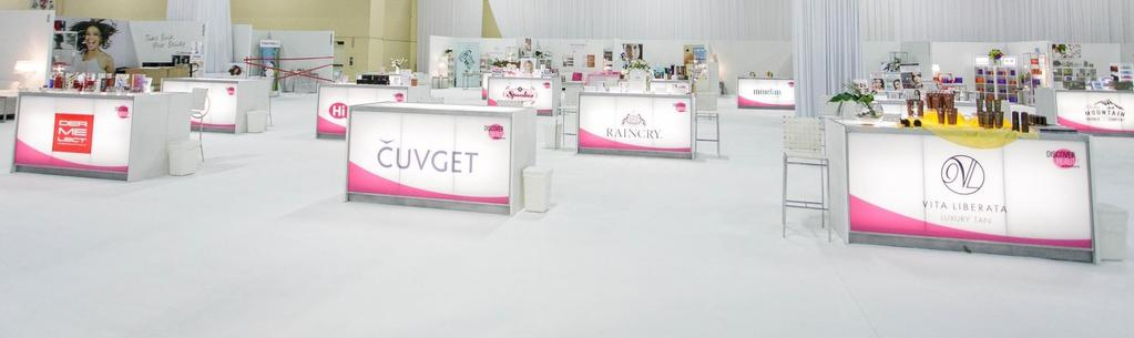 HOW IS IT IMPLEMENTED? DISCOVER BEAUTY SPOTLIGHTS EXHIBIT SPACE : It all starts out with a special dedicated show floor area strategically located to allow maximum visibility and foot traffic.