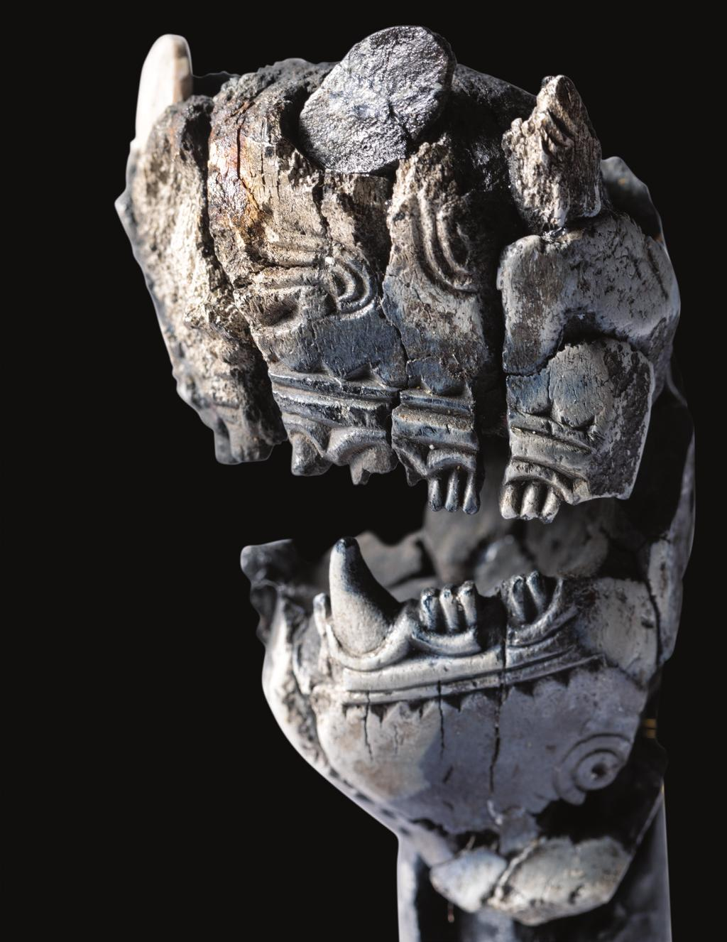 This figure head, found in a female grave from the 10th century, was