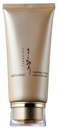 Menard Saranari Concerns: Aging, Dryness W a s h i n g C r e a m A facial washing cream that gently cleanses the skin with extra creamy lather to create serene beauty Foams smoothly into a pleasing