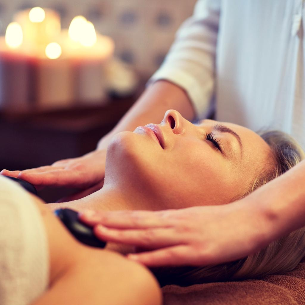 BODY MASSAGES Thai 60 min AED 340 This traditional oil free massage is combination of acupressure, reflexology and yogic exercise or gentle stretching, targeting the energy lines which diminishes