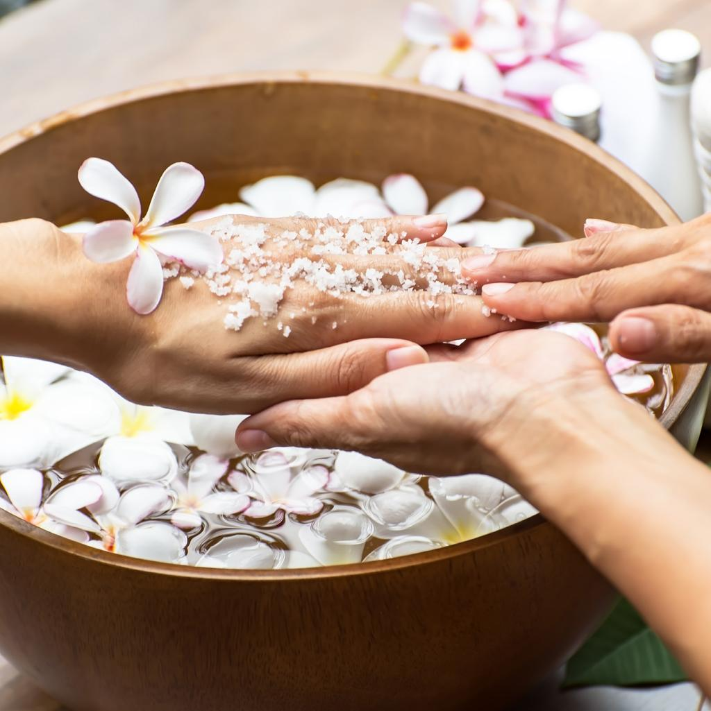 MANICURE & PEDICURE Classic Manicure 30 min / AED 75 Classic Pedicure 30 min / AED 95 Hand Spa / Perfect Nails 60 min / AED 160 Pamper yourself with a manicure and revitalizing, soothing hand