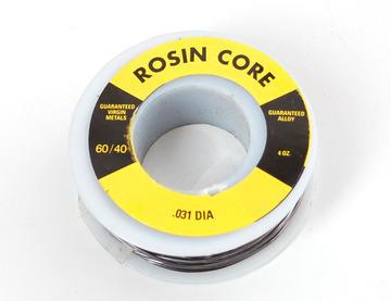 Solder You will want rosin core, 60/40 solder. Good solder is a good thing.
