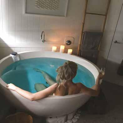 COUPLES ESCAPES The perfect ritual to enjoy being pampered with your loved one. Includes a complimentary relaxing foot soak & scrub followed by a secluded warm mineral salt bath.