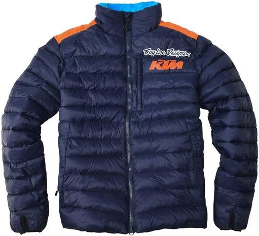 fleece jacket. Features zip hand and chest pockets.