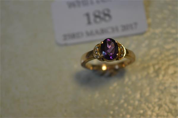 188 An amethyst and diamond