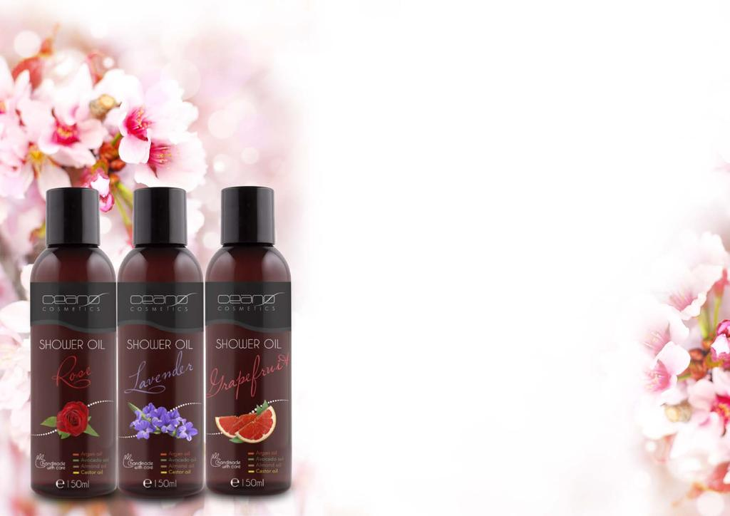spring summer edition SHOWER OIL NEW Softening foam- original and unique in texture- that leaves a satin-like softness all over the body. Enriched with Argan, Avocado, Almond and Castrol oils.