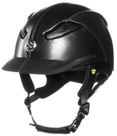 EQ3 Lynx Riding Helmet Shiny Leather Equipped with MIPS Brain Protection System Safety standard CE VG1 101.