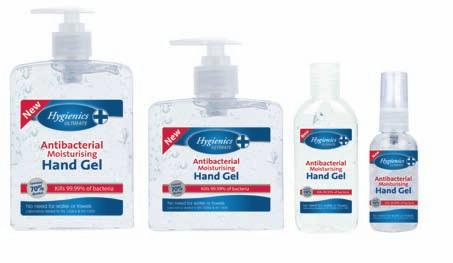Hygienics 500ml hand gel is similar to that used in