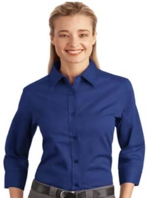 $30.00 14. Women's 3/4 Sleeve Easy Care Shirt. Cotton/Poly blend fabric.