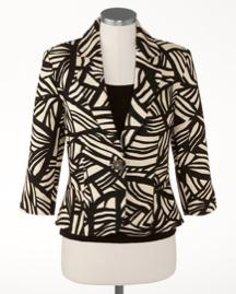 Exotic Mini Peplum Jacket Mini Peplum Jacket 3/4 sleeves (petites, misses,