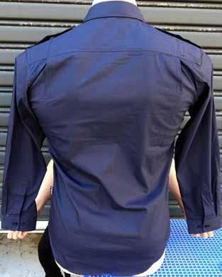 on shoulders Chest pockets with covering flaps Air flow