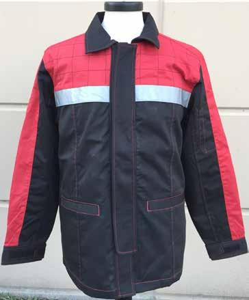 Work Jacket Cotton Blend Chino Fabric