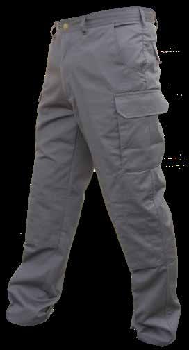 Mens Cargo Pants Mid Weight Cotton Blend Chino Double Knee with Cross Stitching Crease Resistant Long Leg Length