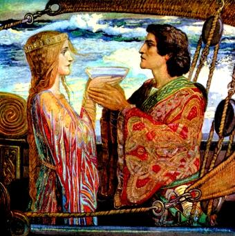 Celtic lovers Tristan and Isolde on their journey from Ireland to Cornwall by John Duncan The Ancient Sources water-filled Jewellery Collection includes jewellery forms used widely in the ancient