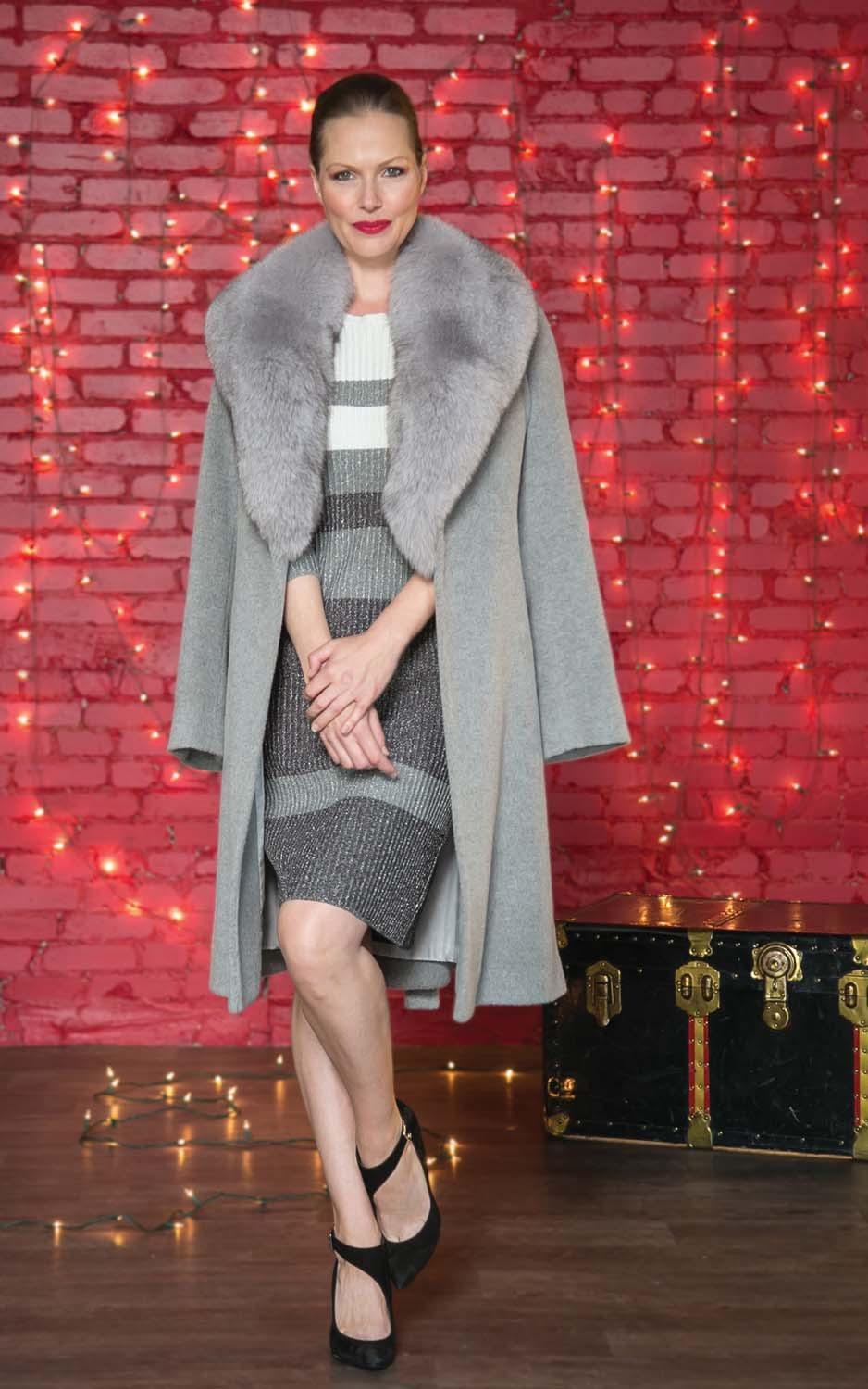 BARRINGTON S OWN wrap coat with