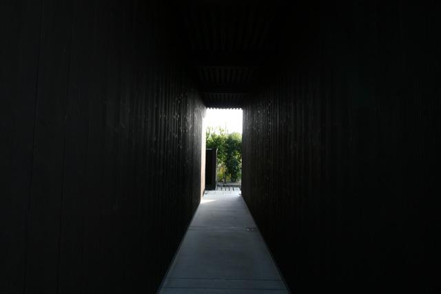 (Image 9) A picture of James Turrell s entrance to the dark room