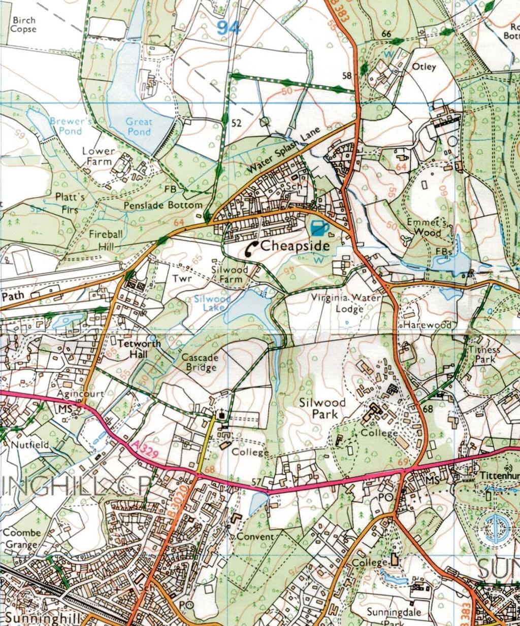 Maidenhead Slough READING Windsor 70000 Hungerford Newbury Thatcham Wokingham Bracknell SITE SITE 69000 68000 Silwood Farm, Silwood Park, Cheapside Road, Ascot, Berkshire, 2009