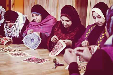 Married women traditionally embroider using red thread, while their unmarried counterparts use blue thread.