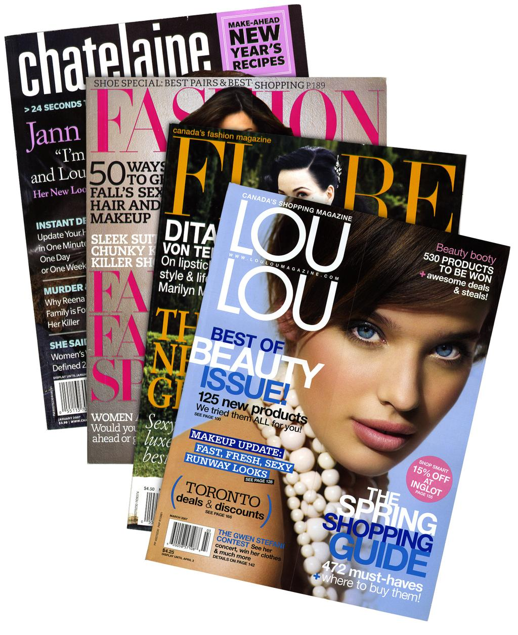 Press Clippings Trind has appeared in a number of magazines and websites: Chatelaine, Fashion, Flare, Lou Lou, Elle,