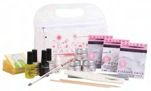 assortment of nail tips: ROYAL clear, ROYAL natural, ELEGANT SMILE French One gel for all AGCS01 Antiseptic