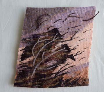 35 in x 8 in, photo: Janet Austin. Wool, linen, cotton.