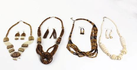 95 Set Of 4 African Tribal Necklace