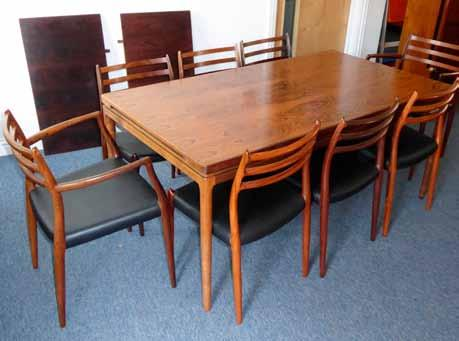 Lot 541 Lot 550 This rare and desirable mid 20th Century Danish rosewood dining table